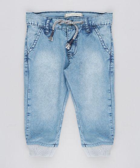 Calca-Jeans-infantil-Jogger-com-Cordao-Azul-Claro-9308562-Azul_Claro_1