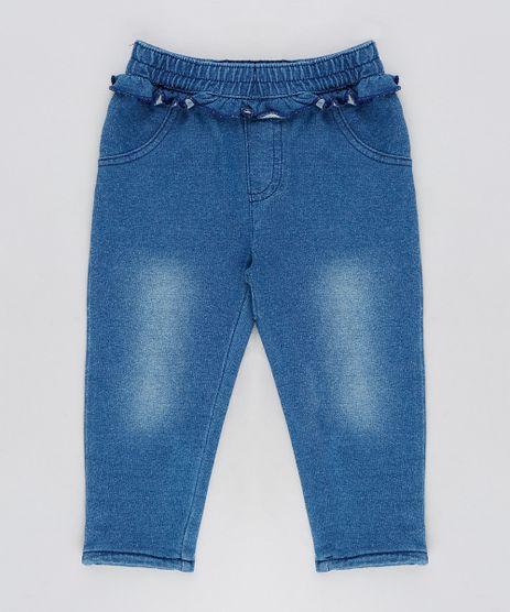 Calca-Jeans-Infantil-em-Moletom-com-Babados-Azul-Escuro-9116662-Azul_Escuro_1
