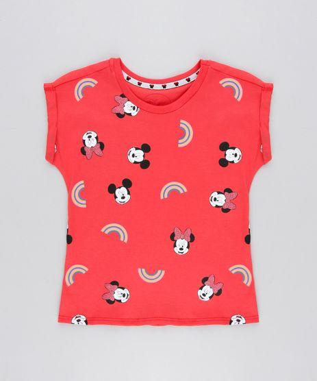 Blusa-Infantil-Minnie-e-Mickey-Manga-Curta-Decote-Redondo-Vermelha-9300993-Vermelho_1