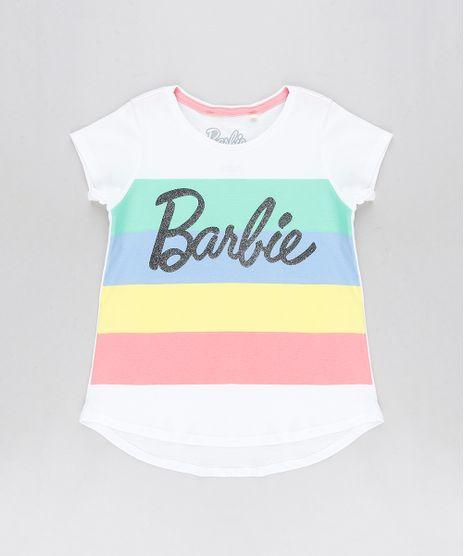 Blusa-Infantil-Barbie-com-Listras-Manga-Curta-Decote-Redondo-Off-White-9296707-Off_White_1