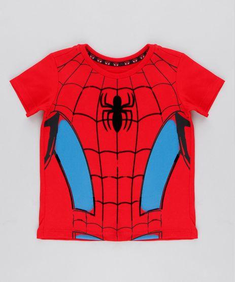 0adbe940c8 Camiseta-Infantil-Homem-Aranha-Manga-Curta-Gola-Careca-