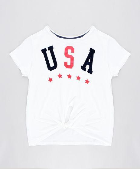 Blusa-Infantil--USA--com-No-Manga-Curta-Decote-Redondo-Off-White-9302143-Off_White_1