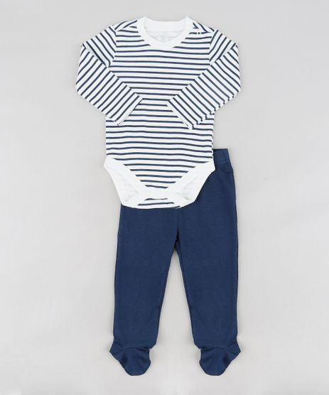 Conjunto-Infantil-de-Body-Listrado-Manga-Longa---Macacao-Estampado----Calca-com-Pezinho-Azul-Marinho-9114243-Azul_Marinho_1