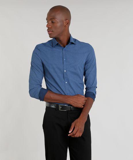 Camisa-Masculina-Slim-Estampada-Mini-Print-Manga-Longa-Azul-Marinho-9093236-Azul_Marinho_1