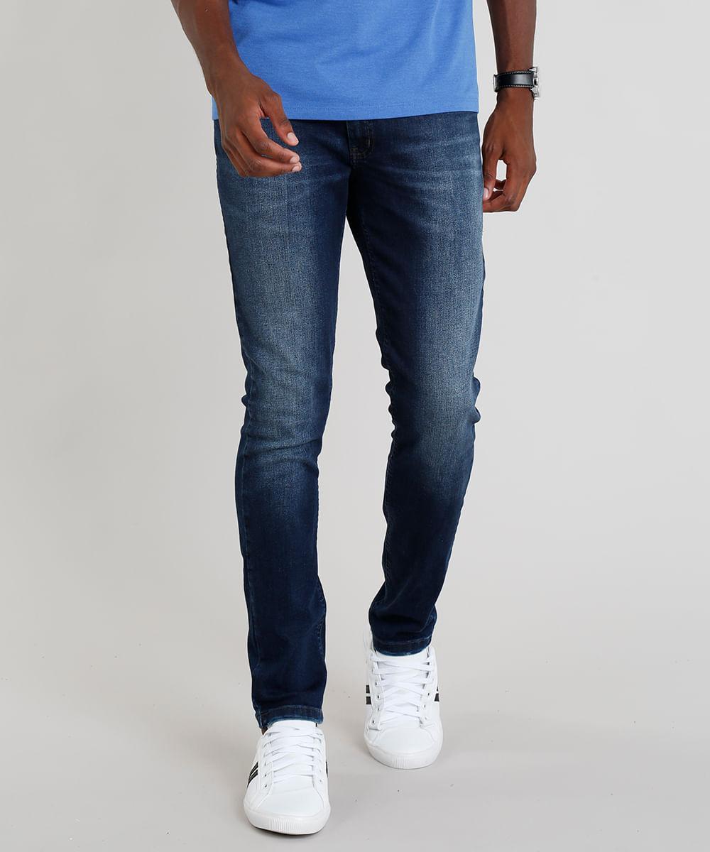 f8a11ebe61 ... Calca-Jeans-Masculina-Slim-Azul-Escuro-9280937-Azul Escuro 1