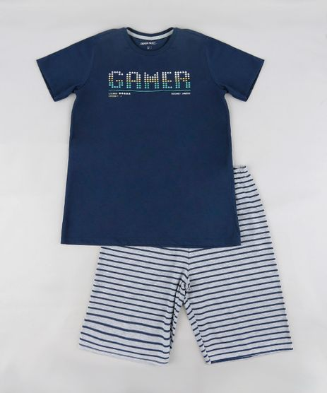 Pijama-Infantil--Gamer--Manga-Curta-Azul-Marinho-9288241-Azul_Marinho_1
