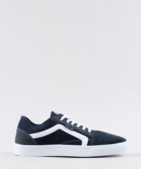 Tenis-Masculino-Ollie-com-Listra-Lateral-em-Lona-Azul-Marinho-9350431-Azul_Marinho_1