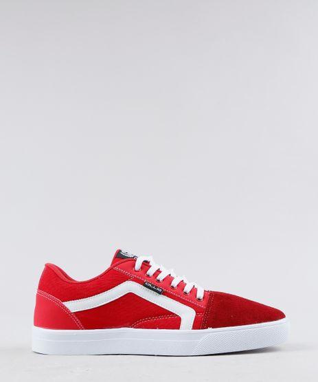 Tenis-Masculino-Ollie-com-Listra-Lateral-em-Lona-Vermelho-9350425-Vermelho_1