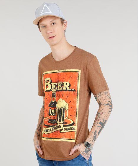 80cb2b48d Camiseta Masculina Duff Beer Os Simpsons Manga Curta Gola Careca ...