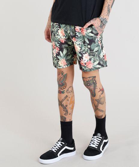Short-Masculino-Estampado-Floral-com-Bolsos-Preto-9305454-Preto_1