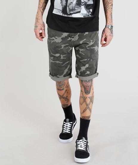 Bermuda-Masculina-Slim-Estampada-Camuflada-Verde-Militar-9335204-Verde_Militar_1