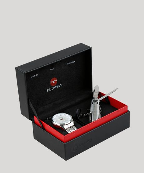 Kit-de-Relogio-Analogico-Technos-Masculino---Canivete---2115KZBK1B-Prateado-8631728-Prateado_1