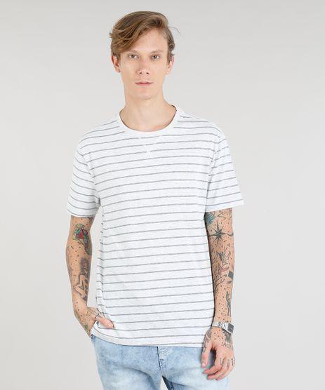 Camiseta-Masculina-Basica-Listrada-Manga-Curta-Gola-Careca-Cinza-Mescla-Claro-9302103-Cinza_Mescla_Claro_1