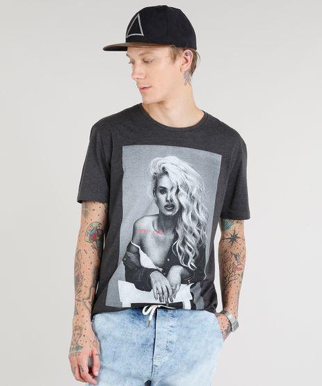 Camiseta-Masculina--I-Don-t-Care--Manga-Curta-Gola-Careca-Cinza-Mescla-Escuro-9276261-Cinza_Mescla_Escuro_1