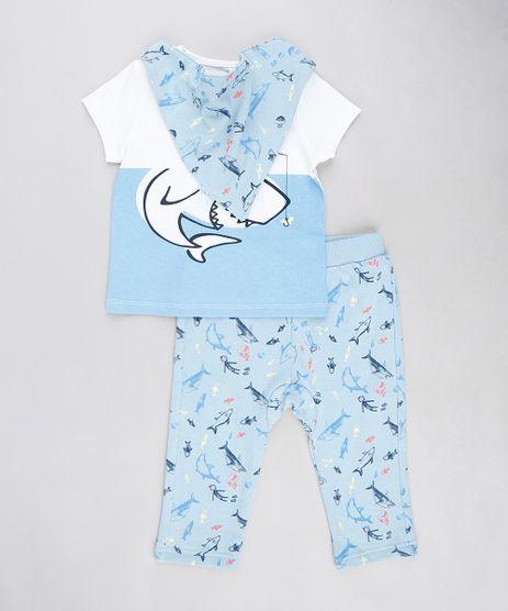 Conjunto-Infantil-de-Camiseta---Calca-em-Moletom-Estampada-de-Tubaroes---Babador-Azul-Claro-9114253-Azul_Claro_1