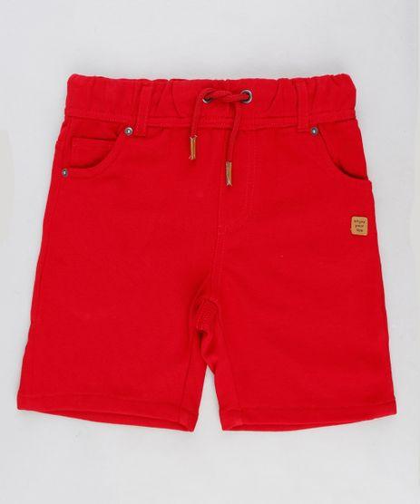 Bermuda-Infantil-em-Moletom-com-Bolsos-Vermelha-9197912-Vermelho_1