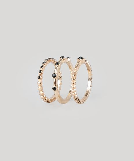 Kit-de-3-Aneis-Femininos-Dourado-9261718-Dourado_1
