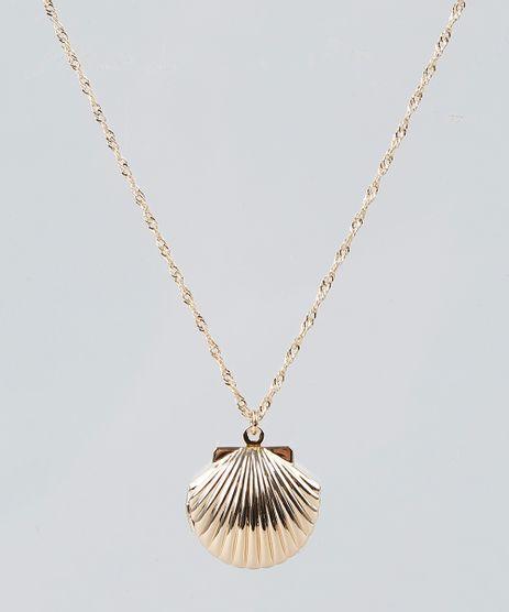 Colar-Feminino-com-Pingente-de-Concha-Relicario-Dourado-9261708-Dourado_1