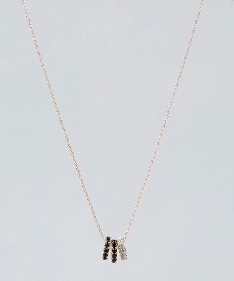 Colar-Feminino-com-Pingentes-de-Argola-Dourado-9261711-Dourado_1