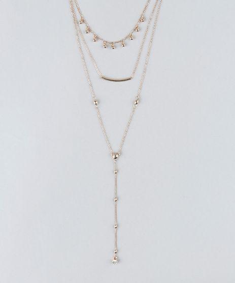 Colar-Triplo-Feminino-com-Strass-Dourado-9261705-Dourado_1