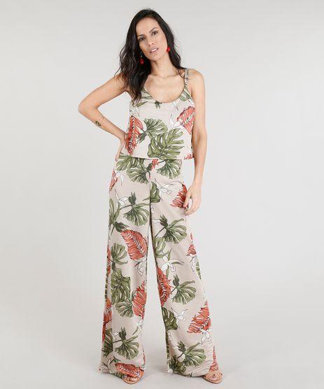 b5bfe32ad Macacao-Longo-Feminino-Estampado-Floral-Kaki-9305370-Kaki 1