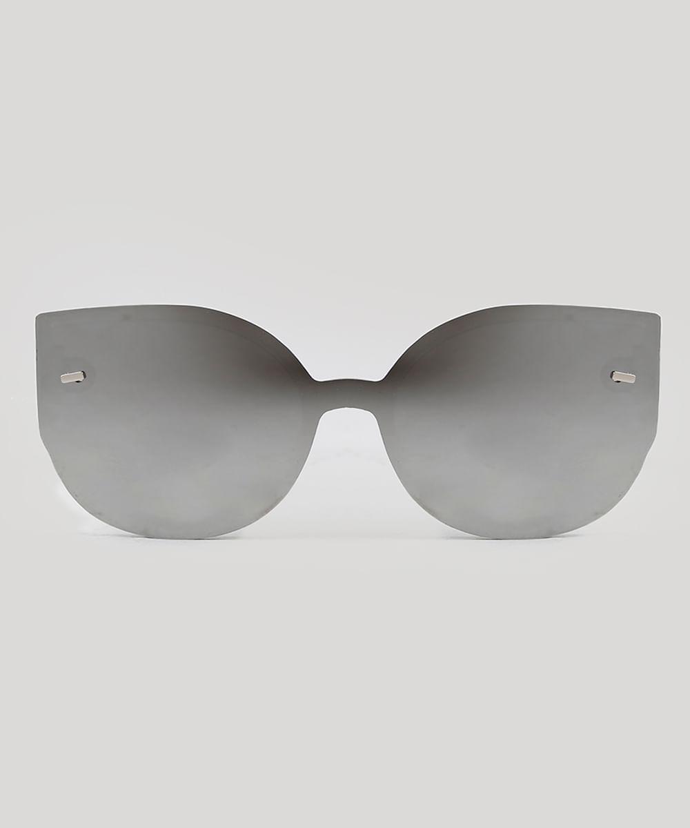 Óculos de Sol Redondo Feminino Oneself Branco - ceacollections a08d01fd6e