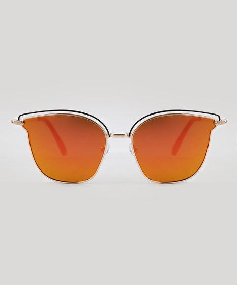 aeebd50b3c3e7 Oculos-de-Sol-Quadrado-Feminino-Oneself-Dourado-9395283- ...