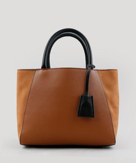 Bolsa-Feminina-Trapezio-com-Recortes-e-Alca-Transversal-Caramelo-9201281-Caramelo_1