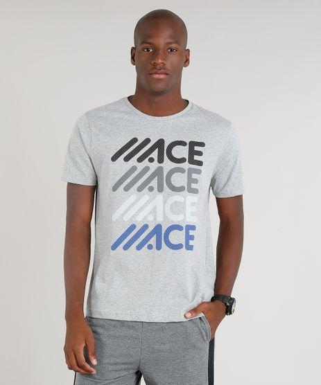 Camiseta-Masculina-Esportiva-Ace-Manga-Curta-Gola-Careca-Cinza-Mescla-Claro-9334049-Cinza_Mescla_Claro_1