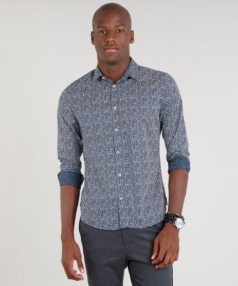 Camisa-Masculina-Slim-Estampada-Floral-Manga-Longa-Azul-Marinho-9095685-Azul_Marinho_1