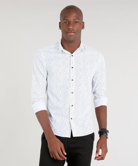 Camisa-Masculina-Slim-Estampada-Floral-Manga-Longa-Branca-9213871-Branco_1