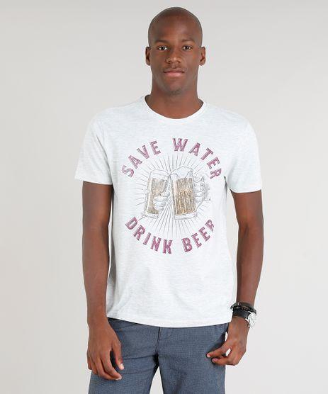 Camiseta-Masculina--Save-Water--Manga-Curta-Gola-Careca-Cinza-Mescla-Claro-9286328-Cinza_Mescla_Claro_1
