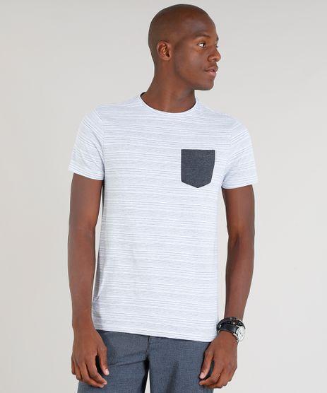 Camiseta-Masculina-com-Bolso-Contrastante-Manga-Curta-Gola-Careca-Cinza-9310977-Cinza_1