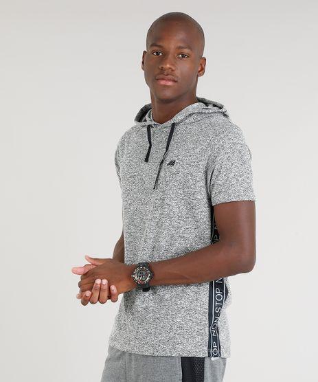 Camiseta-Masculina-Esportiva-Ace-com-Faixa-Lateral-e-Capuz-Manga-Curta-Cinza-Mescla-9305688-Cinza_Mescla_1
