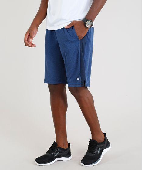 07a235b0fdb27 Bermuda Masculina Esportiva Ace com Recorte Azul Marinho - cea