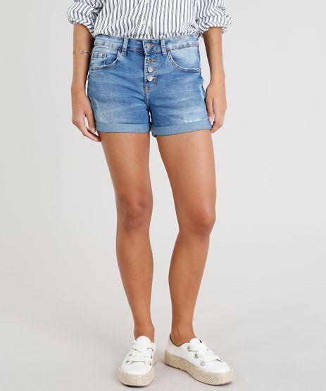 Short-Jeans-Feminino-Reto-com-Botoes-e-Barra-Dobrada-Azul-Claro-9346410-Azul_Claro_1