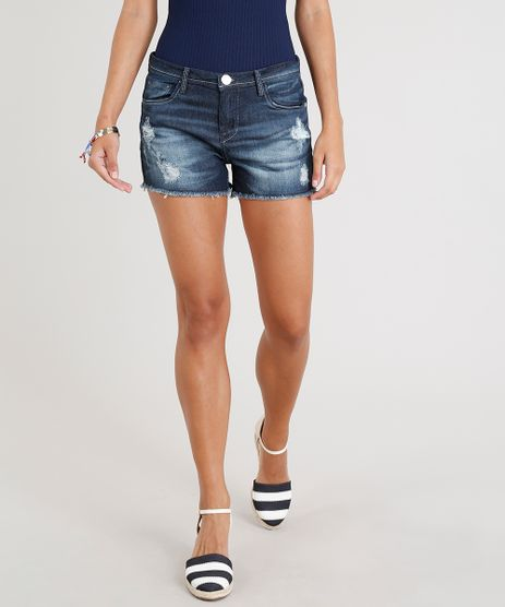 Short-Jeans-Feminino-Reto-Destroyed-com-Barra-Desfiada-Azul-Escuro-9354767-Azul_Escuro_1