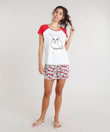 Pijama-Feminino-Harry-Potter-Manga-Curta-Vermelho-9296698-Vermelho_1