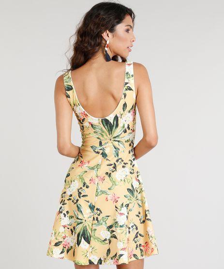 Vestido-Feminino-Curto-Estampado-Floral-Amarelo-9331371-Amarelo 2 dc845e2e5592c