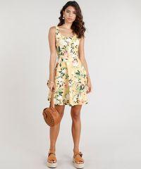 ... Vestido-Feminino-Curto-Estampado-Floral-Amarelo-9331371-Amarelo 1 ... ec1e95908f380