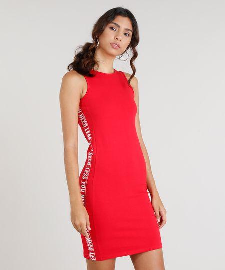 0e0ec6fc8 Menor preço em Vestido Feminino Curto Esportivo com Recortes Laterais  Vermelho