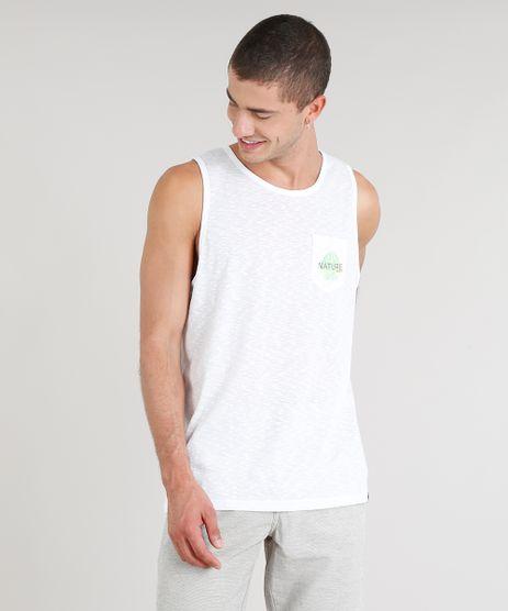 Regata-Masculina-com-Estampa-de-Folha-e-Bolso-Gola-Careca-Branca-9298449-Branco_1