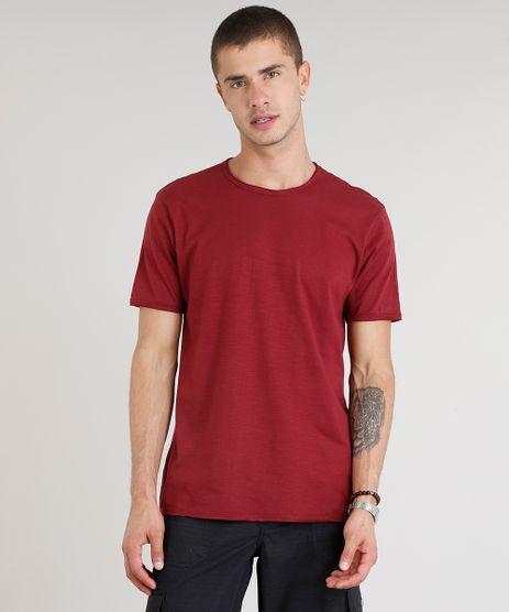 Camiseta-Masculina-Manga-Curta-Gola-Careca-Vinho-9325861-Vinho_1