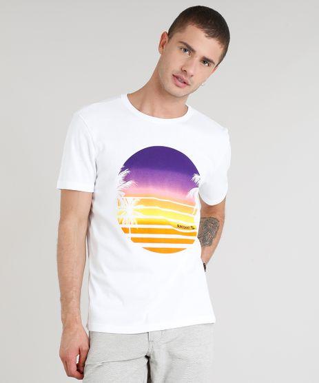 Camiseta-Masculina-com-Estampa-de-Coqueiro-Manga-Curta-Gola-Careca-Off-White-9304413-Off_White_1