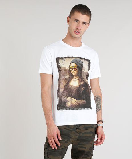 Camiseta-Masculina-Mona-com-Oculos-Manga-Curta-Gola-Careca-Branca-9307573-Branco_1