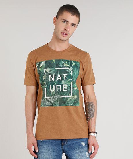 Camiseta-Masculina--Nature--Manga-Curta-Gola-Careca-Caramelo-9306067-Caramelo_1
