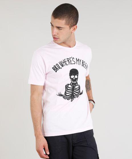 Camiseta-Masculina-Esqueleto-Manga-Curta-Gola-Careca-Rosa-Claro-9317799-Rosa_Claro_1