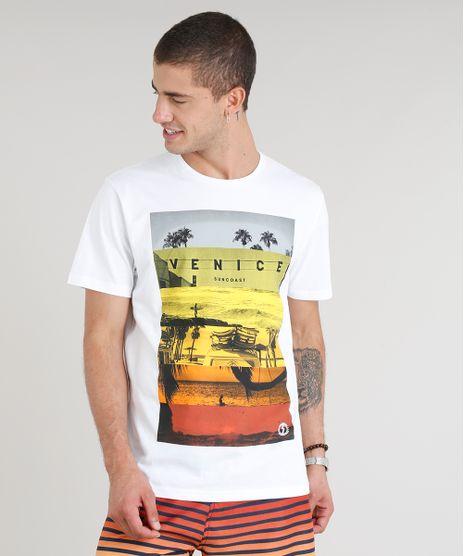 843c33c58 Camiseta-Masculina-Venice-Manga-Curta-Gola-Careca-Branca-