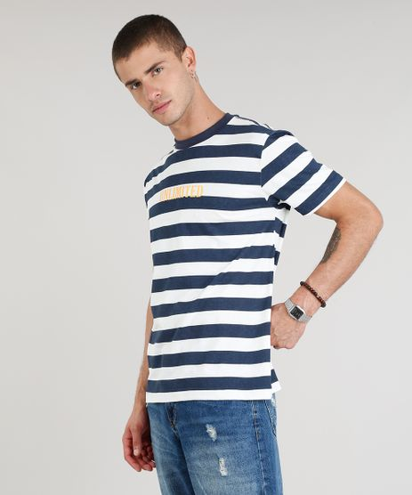 Camiseta-Masculina--Unlimited--Listrada--Manga-Curta-Gola-Careca-Azul-Marinho-9307577-Azul_Marinho_1