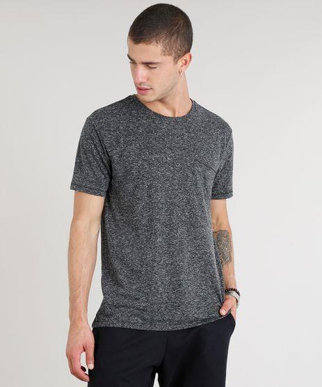 Camiseta-Masculina-com-Linho-e-Bolso-Manga-Curta-Gola-Careca-Cinza-Mescla-Escuro-9248987-Cinza_Mescla_Escuro_1